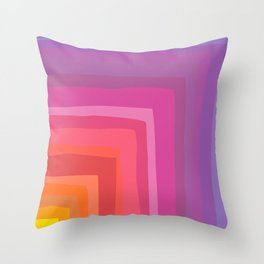 Vivid Vibrant Geometric Rainbow Throw Pillow