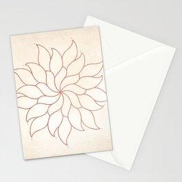 Flowery Rose Gold Mandala on Cream III Stationery Cards