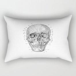 Anatomical Skull Rectangular Pillow