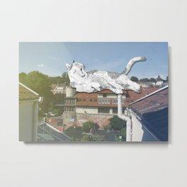 Rooftop Slumba Metal Print