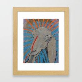 Sheep Head Framed Art Print