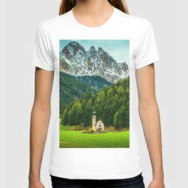 Church in the Italian Alps T-shirt