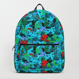 80's Abstract Earring Doodle 5 Backpack