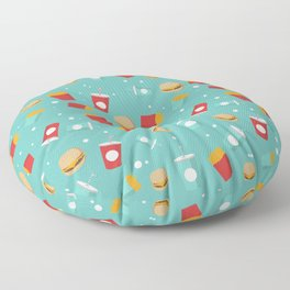 Burgers pattern Floor Pillow