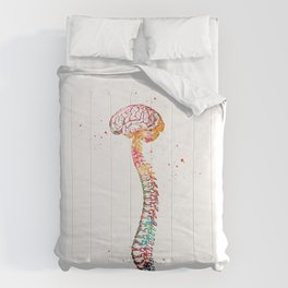 Human Spine with Brain Comforters