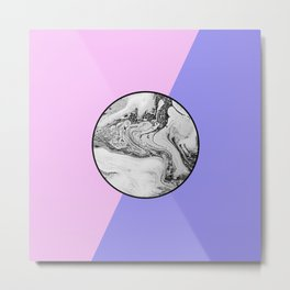 Marble Button Metal Print