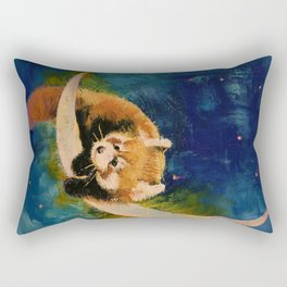 Red Panda Moon Rectangular Pillow