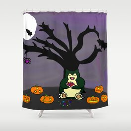 Halloween Munchies Shower Curtain