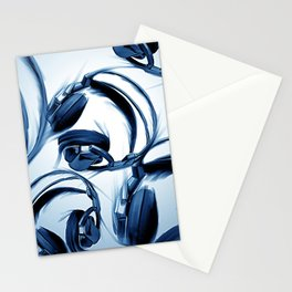 Headphones (Blue) Stationery Cards
