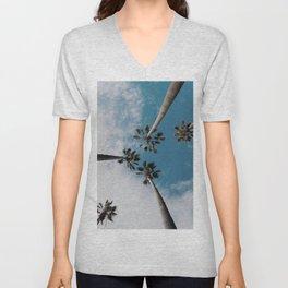 Palm Tree Summer Fun Unisex V-Neck