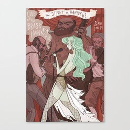 The Jenny Hanivers gig poster Canvas Print