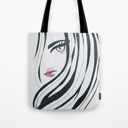 Girl Power Black and White Tote Bag
