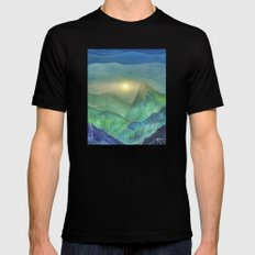 Lines in the mountains V MEDIUM Mens Fitted Tee Black