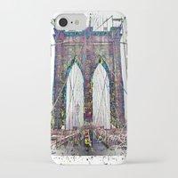 brooklyn bridge iPhone & iPod Cases featuring brooklyn bridge by Vector Art