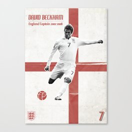 David Beckham England Poster Canvas Print