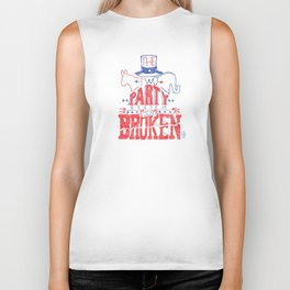 The Two Party System Biker Tank