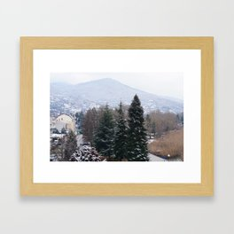 Ohrid lakeshore from above Framed Art Print