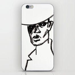 girl with hat iPhone Skin