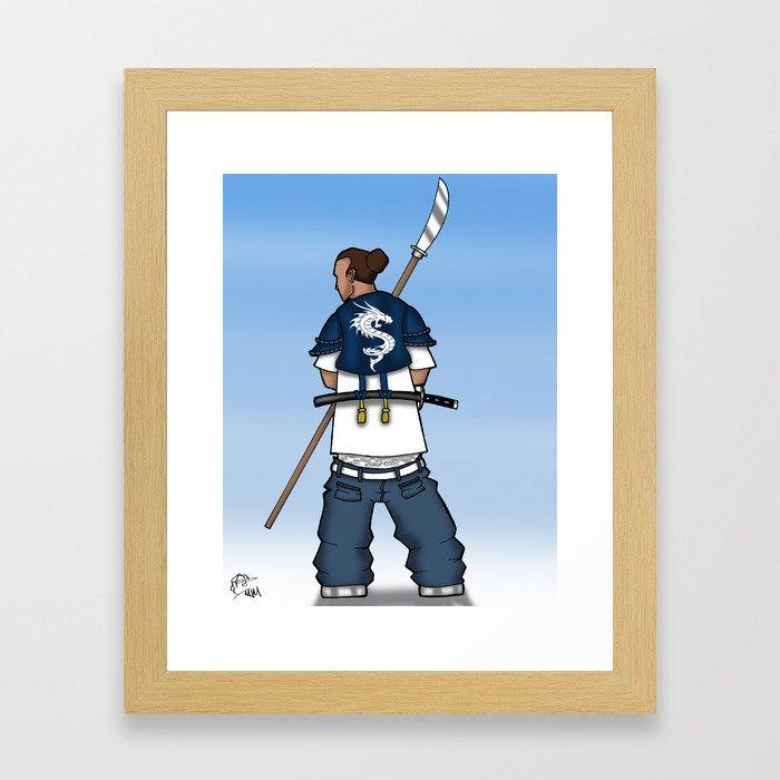 Street Samurai Series - Dragon Back Framed Art Print