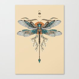 Dragonfly Tattoo Canvas Print