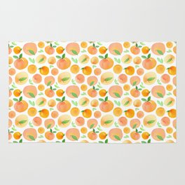 Watercolor Peaches Pattern Rug