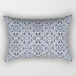 Portuguese Traditional Vintage Decorative Tile Pattern Mosaic Wall Rectangular Pillow