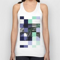 eiffel Tank Tops featuring EIFFEL by Marcela Solana