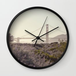Glowy Golden Gate Wall Clock