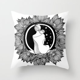 "Inktober, Day 2 ""Tranquil"" #inktober #inktober2018 Throw Pillow"