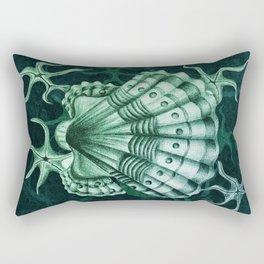 Dystopian Cockle - Lambent Green Rectangular Pillow