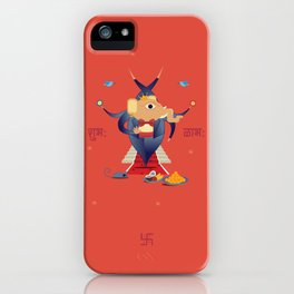 Ganesha: Hindu God of good luck iPhone Case
