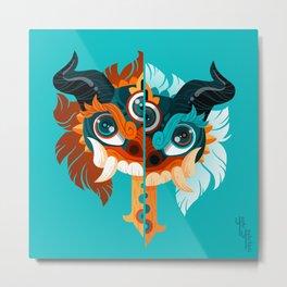 Mask: Wrath Metal Print