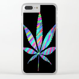 Weed : High Time Colorful Psychedelic Clear iPhone Case