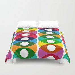 Geometric Pattern #64 (colorful bubbles) Duvet Cover