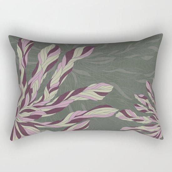 Flower Power Rose/Green Rectangular Pillow