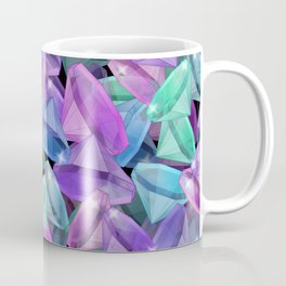 Placer precious stones Black background . Diamonds . Coffee Mug