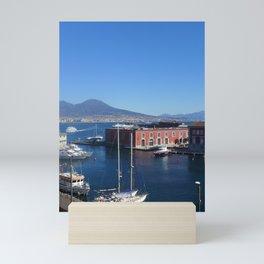 Harbor in  Naples Mini Art Print