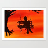 to kill a mockingbird Art Prints featuring To Kill a Mockingbird by thenonsensicalcephalopod