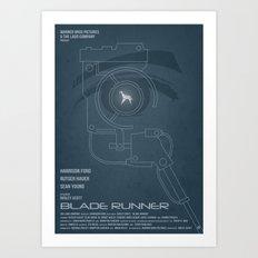 BLADE RUNNER (Voight Kampf Test Version) Art Print
