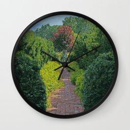 Lost Garden Wall Clock
