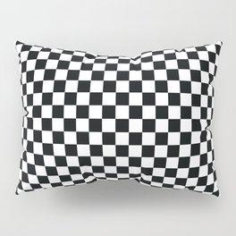 op art - black and white checks bulge Pillow Sham