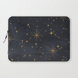 Seamless Pattern Night Sky Gold Stars Magical Mystical Pattern Laptop Sleeve