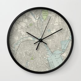 Vintage Map of Providence Rhode Island (1901) Wall Clock