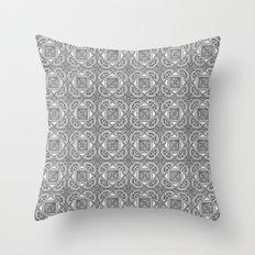 Downtown Doodler: Temple Court Archi-doodle Throw Pillow