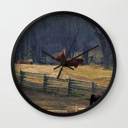 Wilderness Horse Ranch Wall Clock