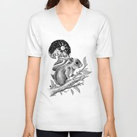 squirrel V-neck T-shirts featuring SQUIRREL by Thiago Bianchini