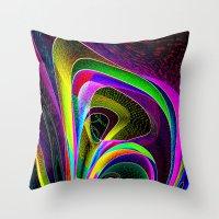 magneto Throw Pillows featuring magneto-dynamic by David  Gough
