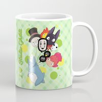 studio ghibli Mugs featuring I ♥ Studio Ghibli by Lacis