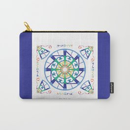 Imagine fro the Inside - White/Blue Carry-All Pouch