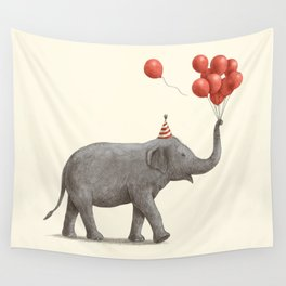 Party Elephant Wall Tapestry
